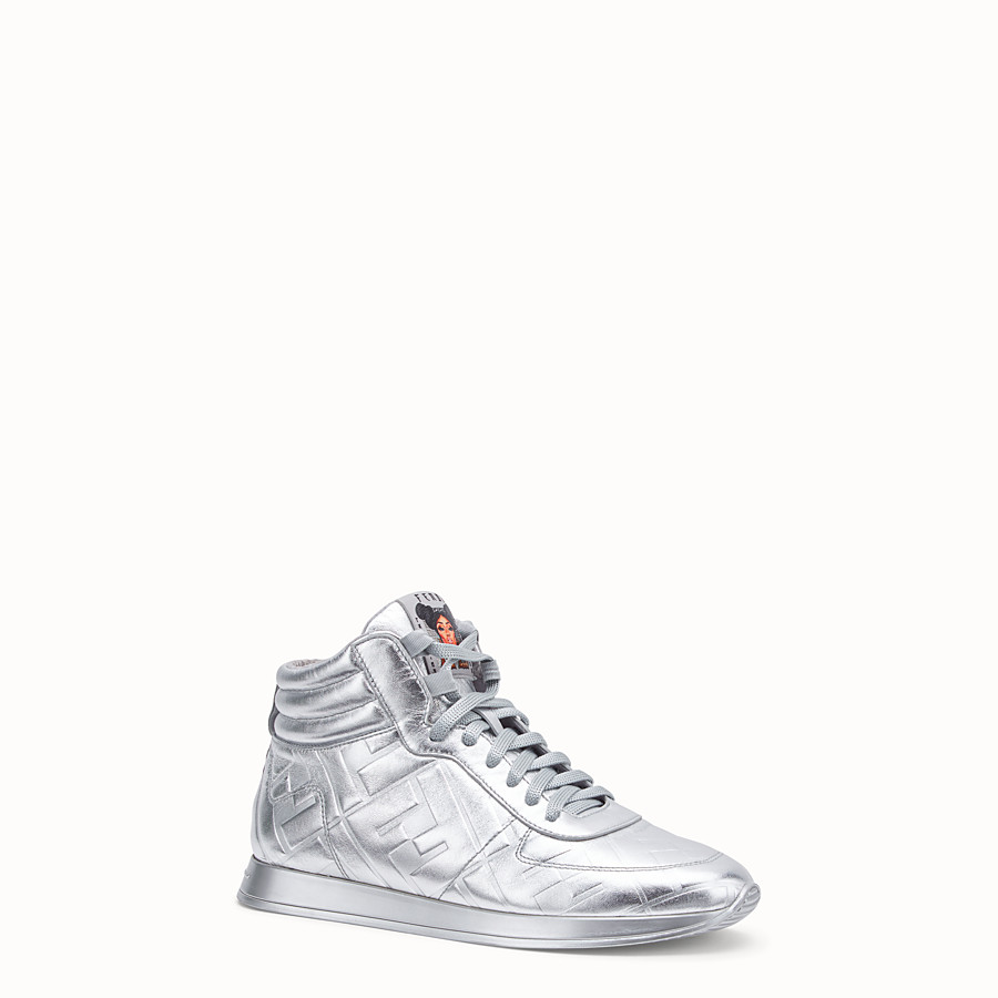 FENDI SNEAKERS - Fendi Prints On nappa leather high-tops - view 2 detail