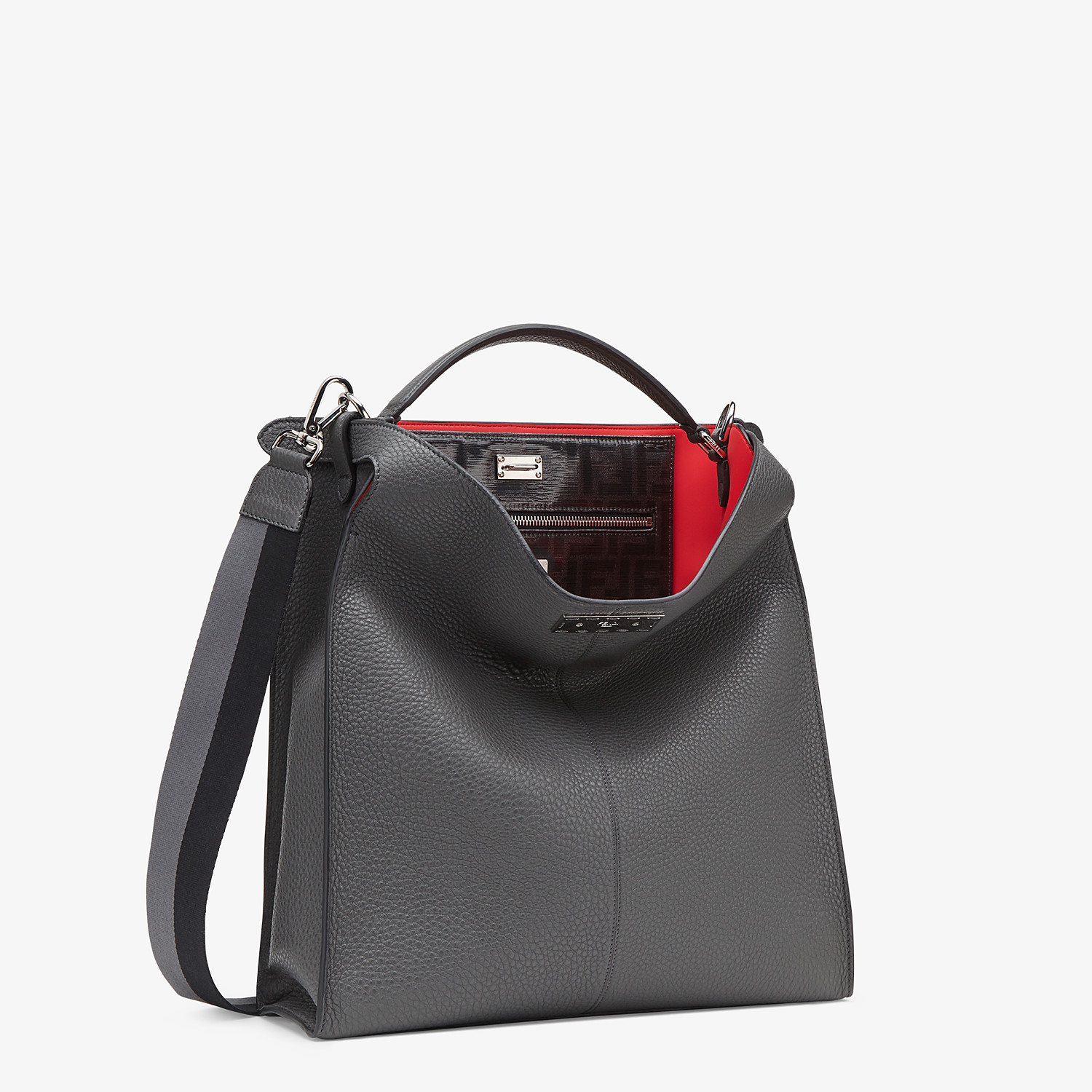 FENDI PEEKABOO X-LITE FIT - Grey leather bag - view 3 detail