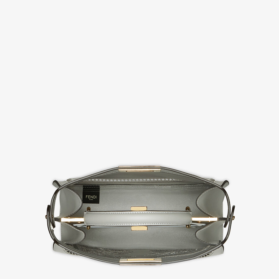 FENDI PEEKABOO ISEEU MEDIUM - Embroidered gray leather bag - view 7 detail