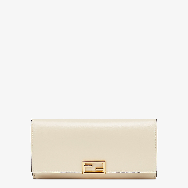 FENDI CONTINENTAL - White leather wallet - view 1 detail