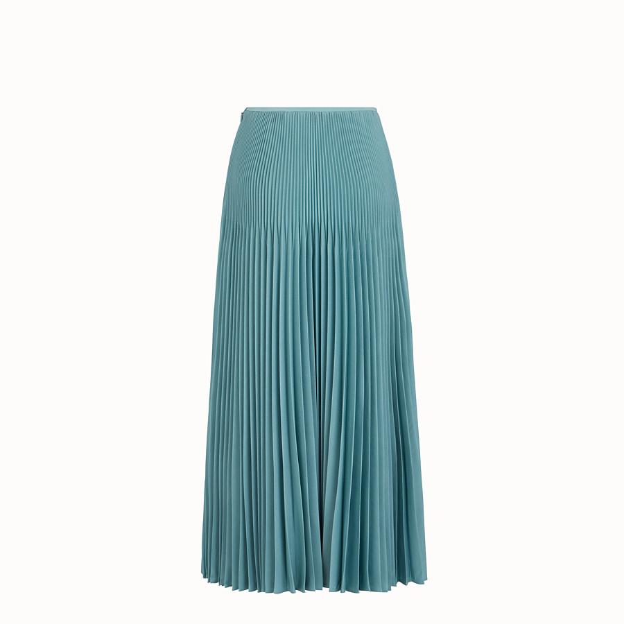 FENDI SKIRT - Light blue kid mohair skirt - view 2 detail