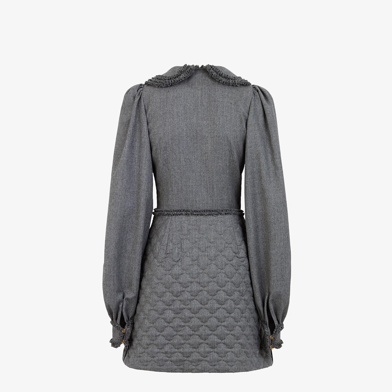 FENDI DRESS - Grey flannel dress - view 2 detail