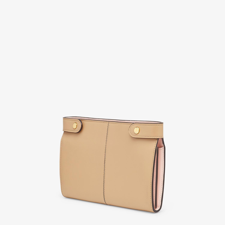 FENDI WALLET - Brown leather wallet - view 2 detail