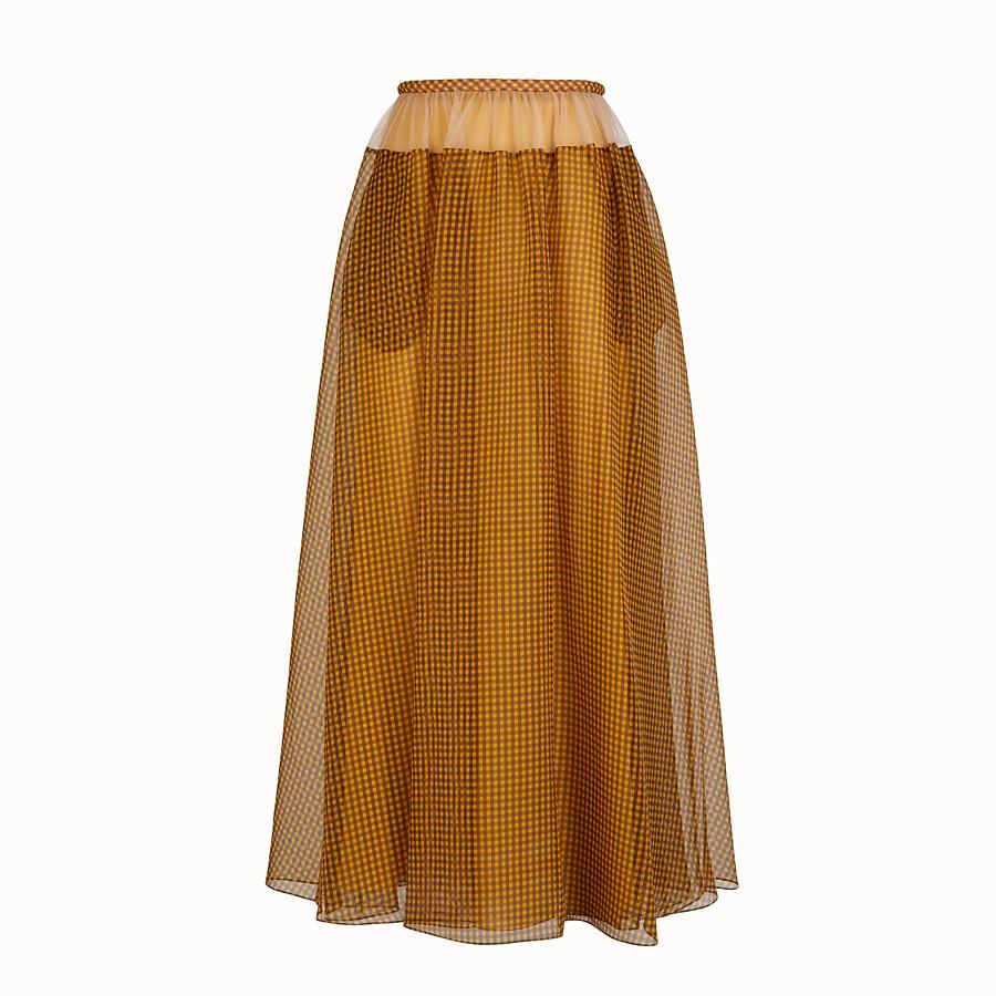 FENDI SKIRT - Organza Vichy skirt - view 1 detail