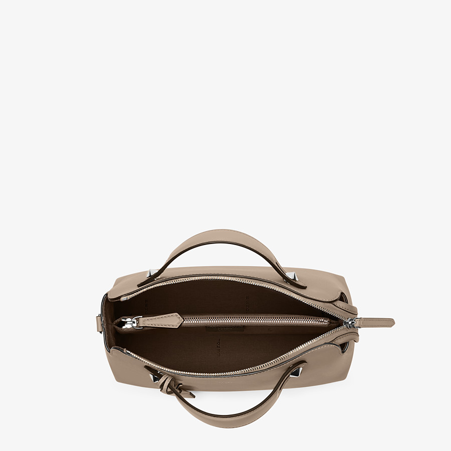 FENDI BY THE WAY MEDIUM - Small Boston bag in beige leather - view 5 detail