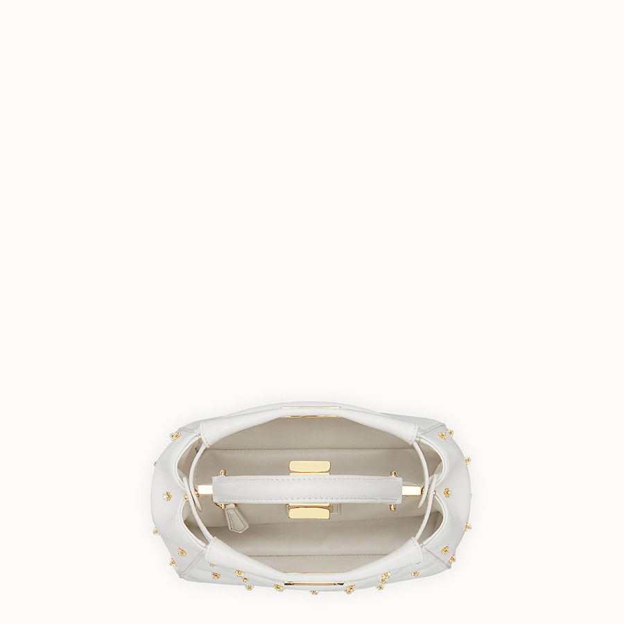 FENDI PEEKABOO XS - White leather mini-bag - view 4 detail