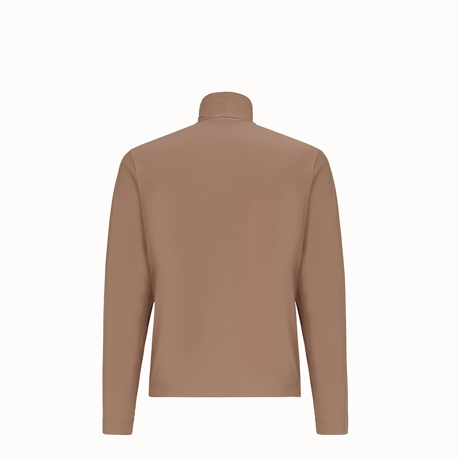 FENDI TURTLENECK - Brown jersey sweater - view 2 detail