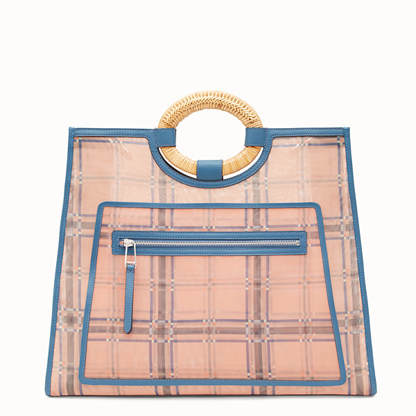FENDI RUNAWAY SHOPPER - Multicolour leather and mesh shopper bag - view 1 small thumbnail