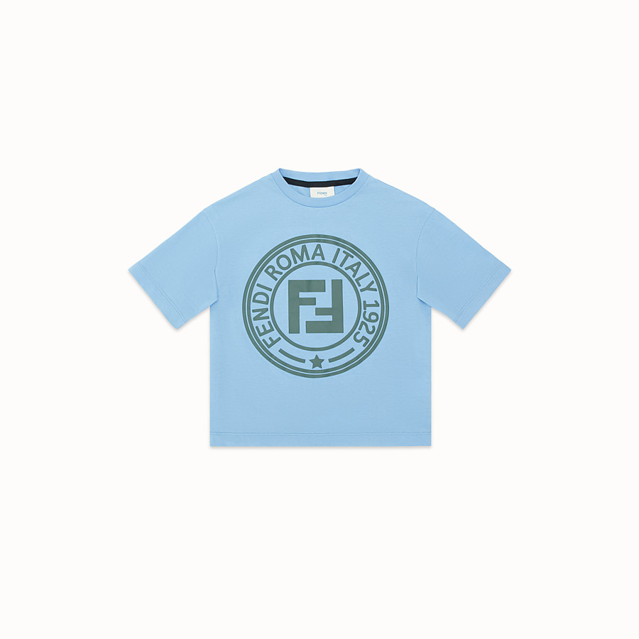 FENDI T-SHIRT - Ceramic colour jersey T-shirt - view 1 detail
