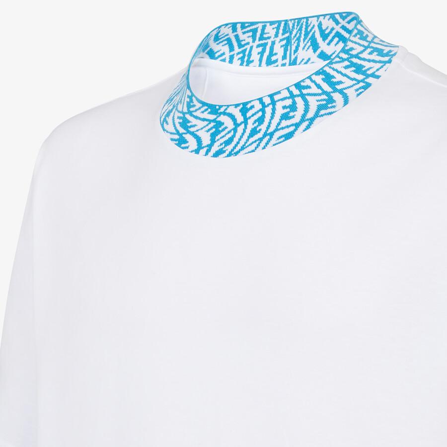 FENDI T 恤 - 白色針織T恤 - view 3 detail