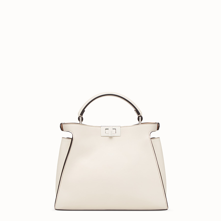 FENDI PEEKABOO ICONIC ESSENTIALLY - Beige leather bag - view 3 detail
