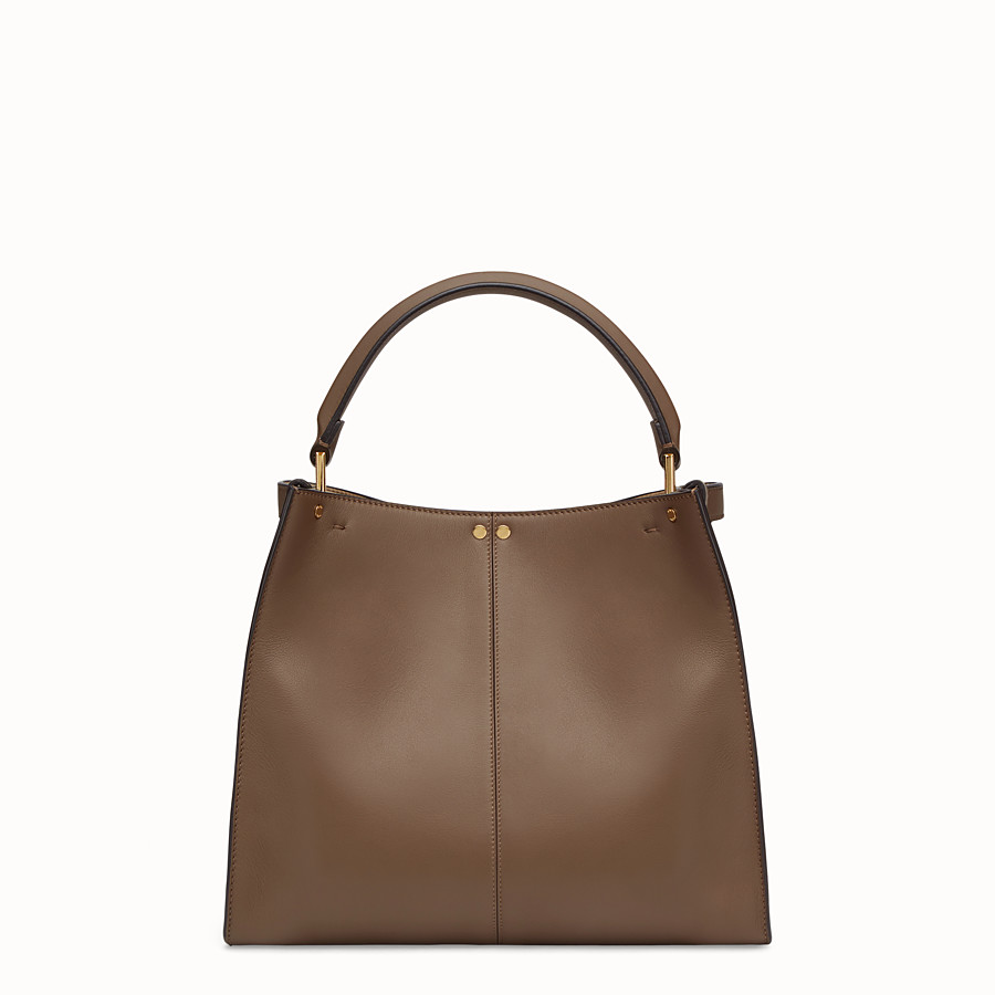 FENDI PEEKABOO X-LITE REGULAR - Brown leather bag - view 4 detail