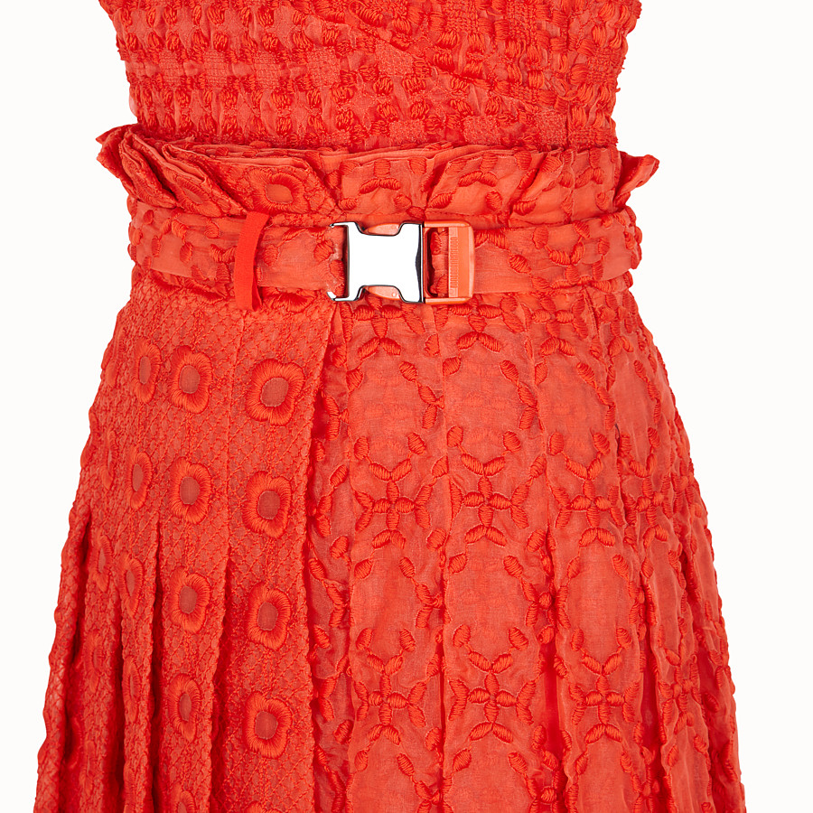 FENDI DRESS - Orange organza dress - view 3 detail