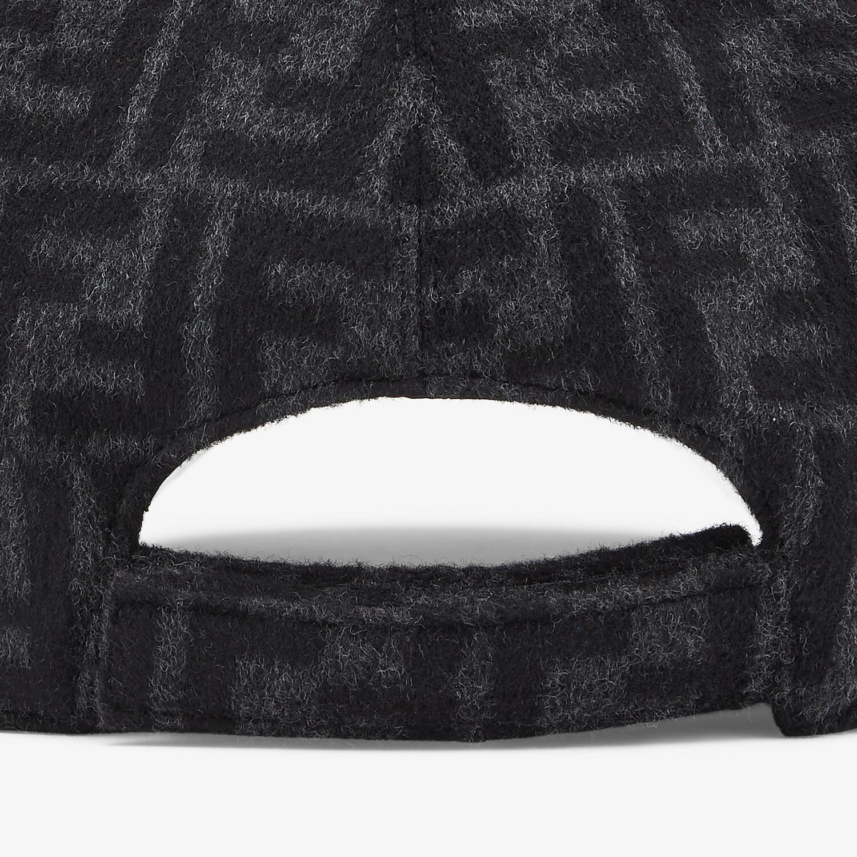 FENDI HAT - Gray wool baseball cap - view 2 detail