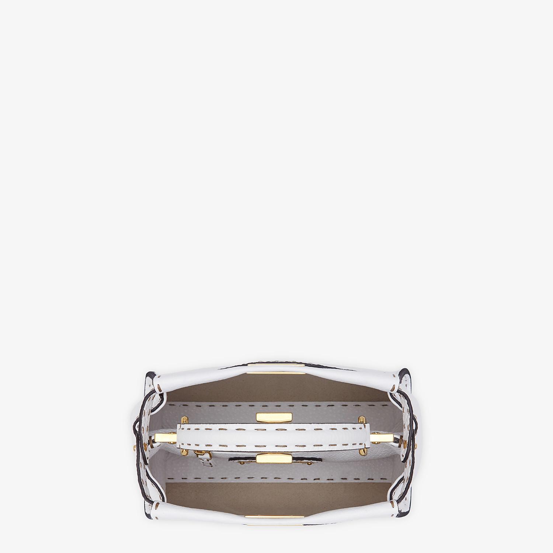 FENDI PEEKABOO ICONIC MINI - White Cuoio Romano leather bag - view 5 detail