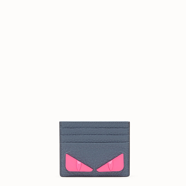 FENDI CARD HOLDER - Gray Romano leather card holder - view 1 small thumbnail