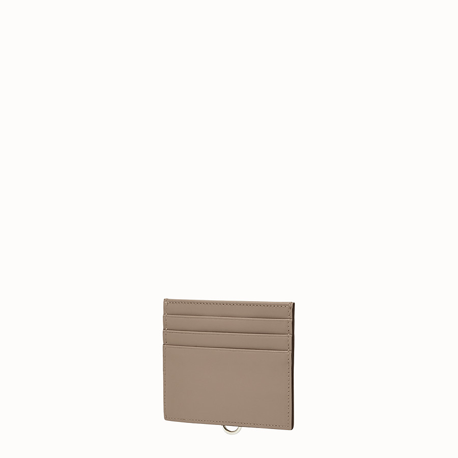 FENDI CARD HOLDER - Dove-grey leather card holder with six slots - view 2 detail