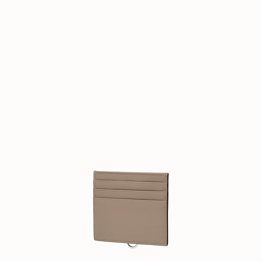 FENDI 카드 홀더 - 도브 그레이 컬러의 가죽 카드 홀더, 슬롯 6개 - view 2 detail