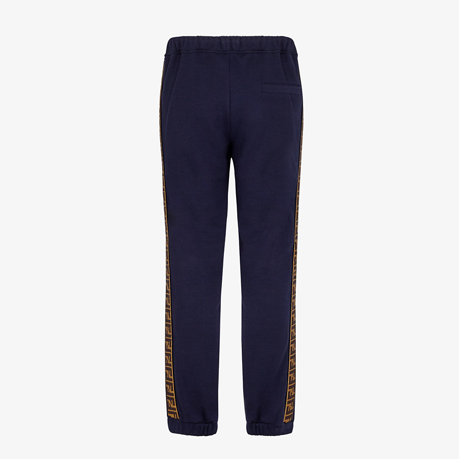 FENDI TROUSERS - Blue cotton trousers - view 2 detail