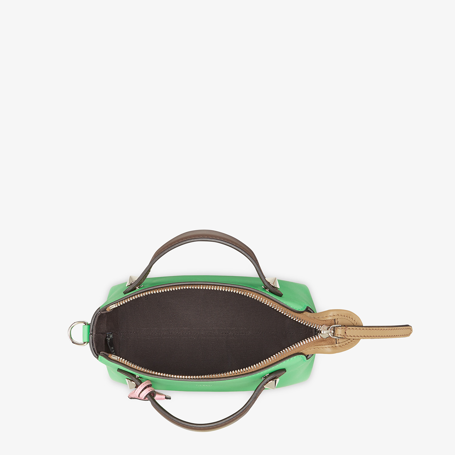 FENDI BY THE WAY MINI - Green leather small Boston bag - view 5 detail