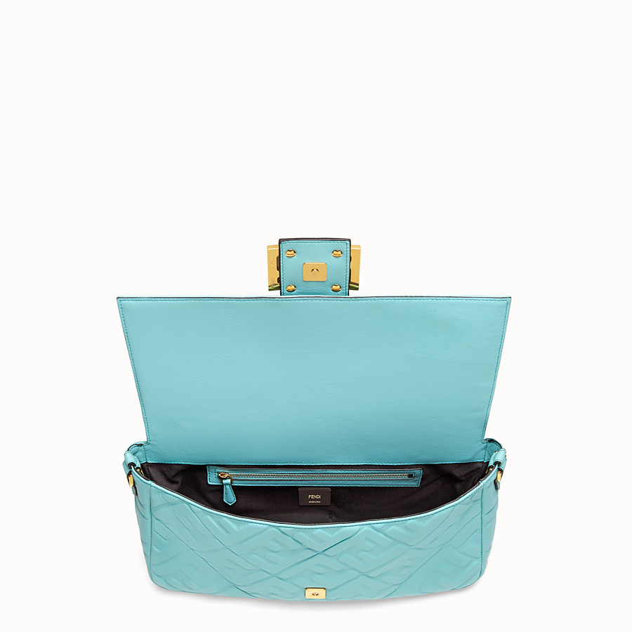 FENDI BAGUETTE LARGE - Pale blue leather bag - view 4 detail