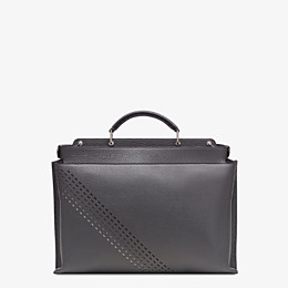 FENDI PEEKABOO ICONIC ESSENTIAL - Grey calf leather bag - view 3 thumbnail