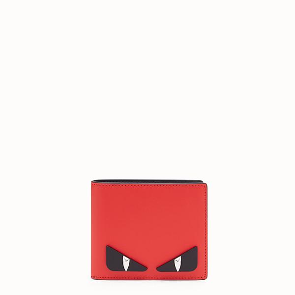 FENDI WALLET - Red leather bi-fold wallet - view 1 small thumbnail
