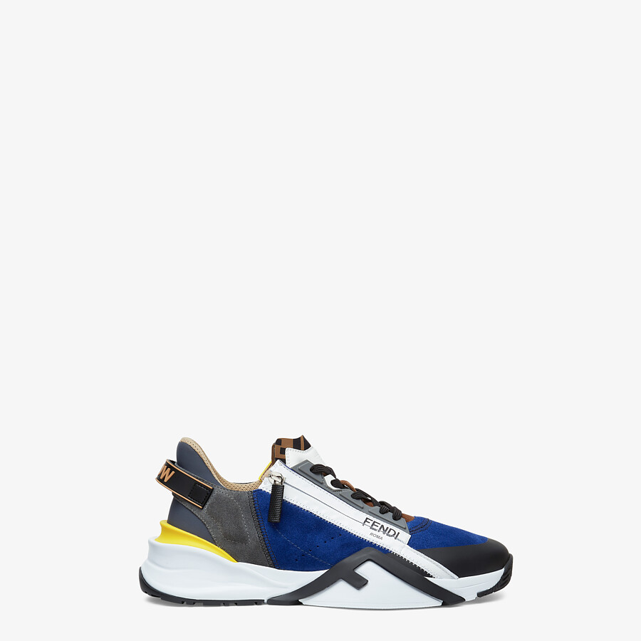 FENDI SNEAKERS - Multicolor suede low-tops - view 1 detail