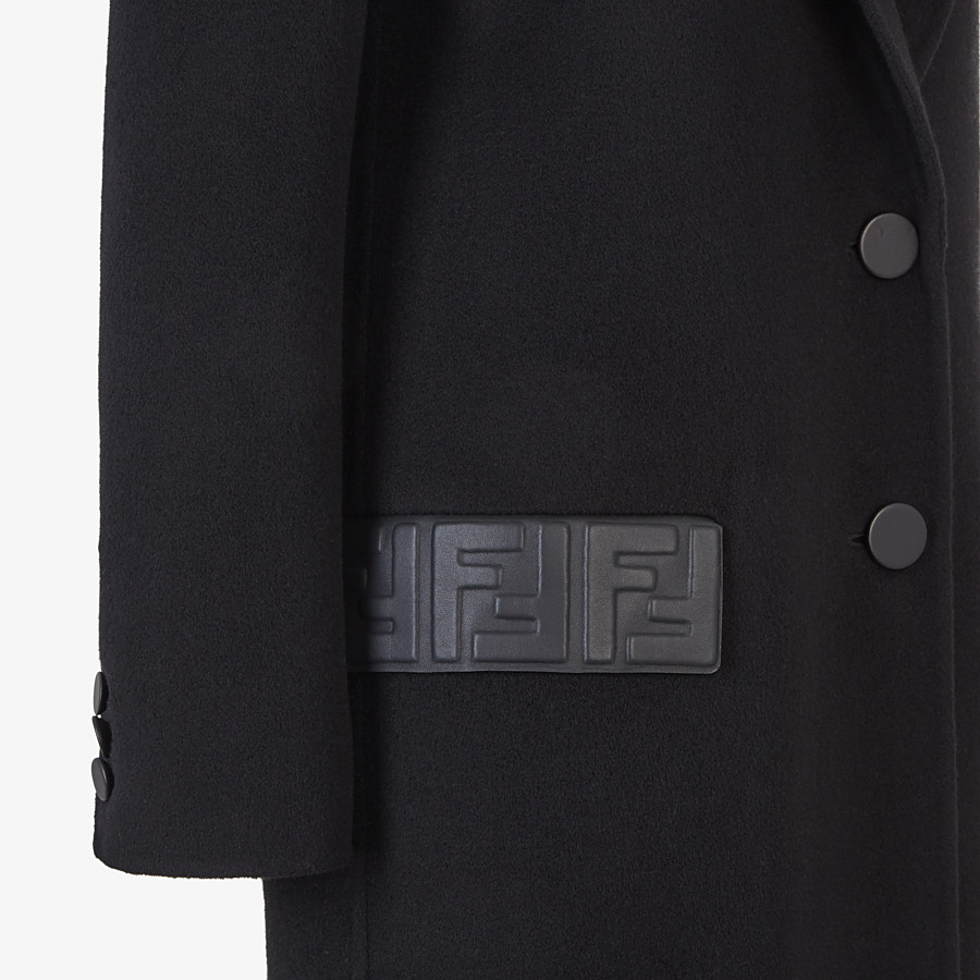 FENDI OVERCOAT - Black cashmere coat - view 3 detail