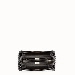 FENDI PEEKABOO ICONIC MINI - Handtasche aus schwarzem Nappaleder mit Webdetail - view 4 thumbnail
