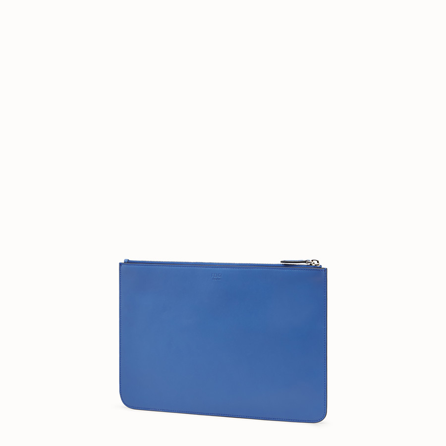 FENDI POUCH - Blue leather pouch - view 2 detail