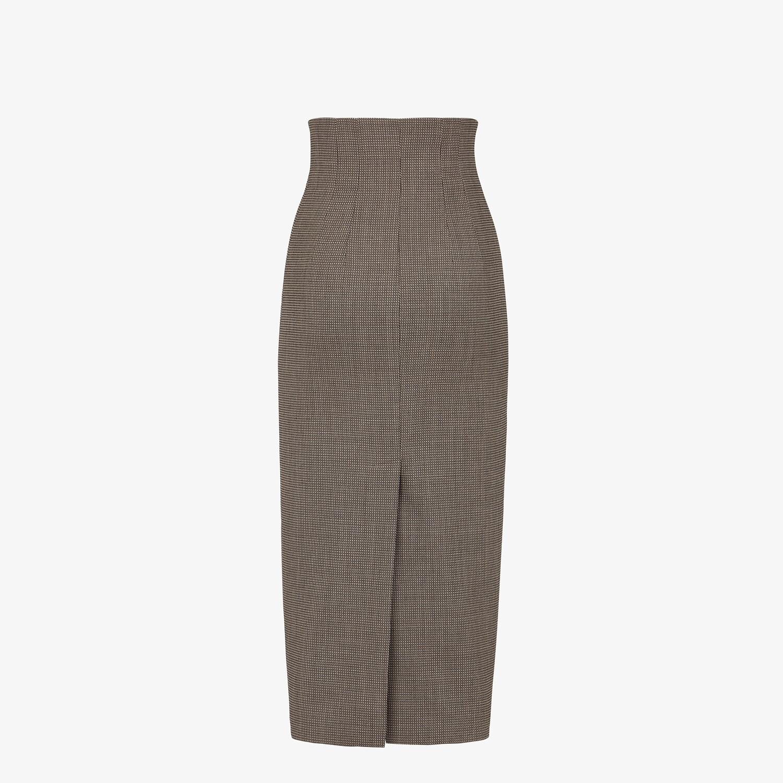FENDI SKIRT - Gray wool skirt - view 2 detail