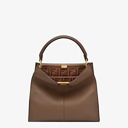 FENDI PEEKABOO X-LITE MEDIUM - Brown leather bag - view 2 thumbnail