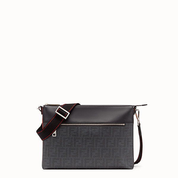 FENDI MESSENGER - Blue fabric pochette - view 1 small thumbnail