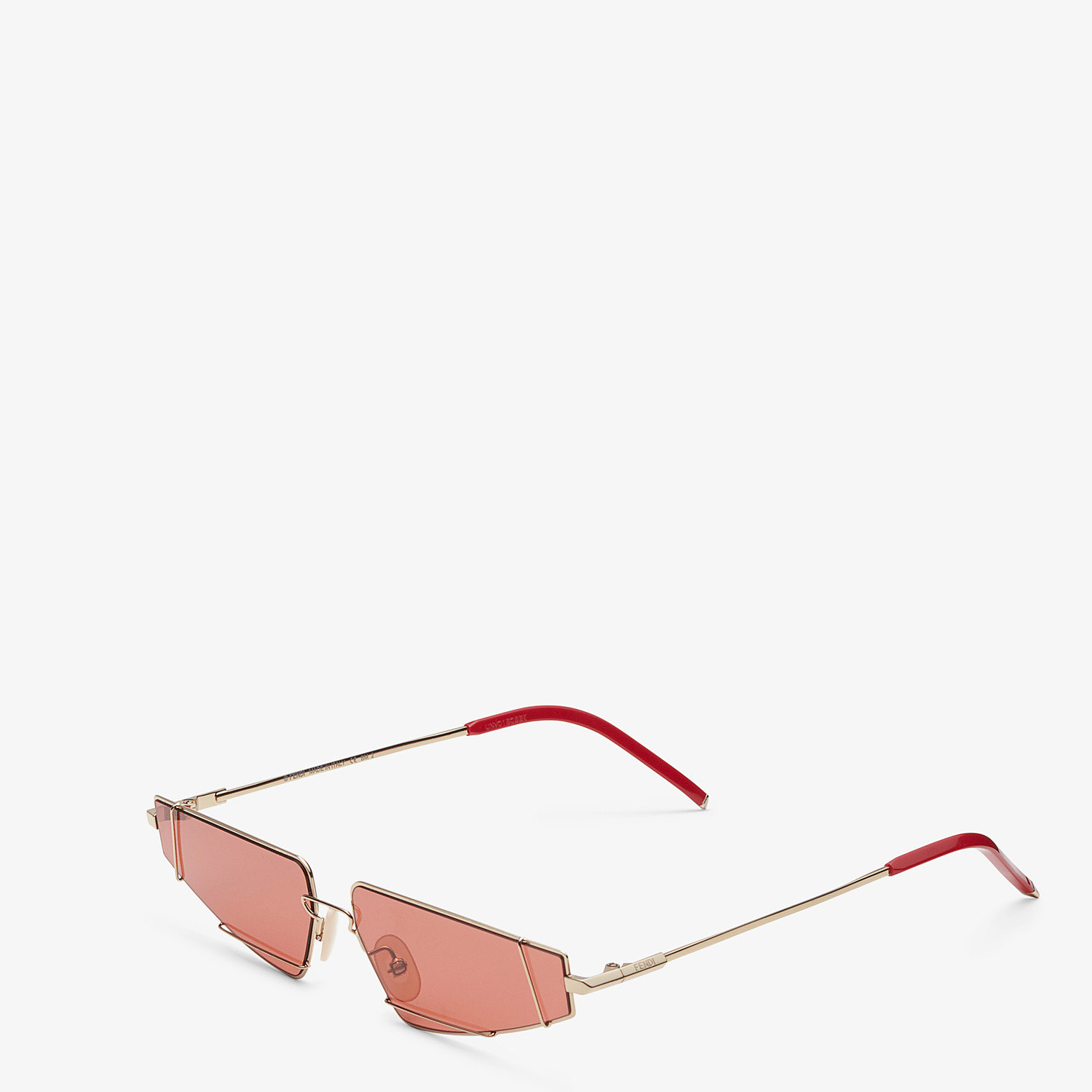 FENDI FENDIFIEND - Gold and red sunglasses - view 2 detail