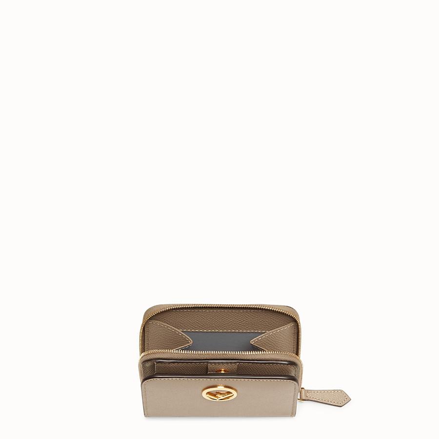 FENDI MEDIUM ZIP-AROUND - Grey leather wallet - view 3 detail