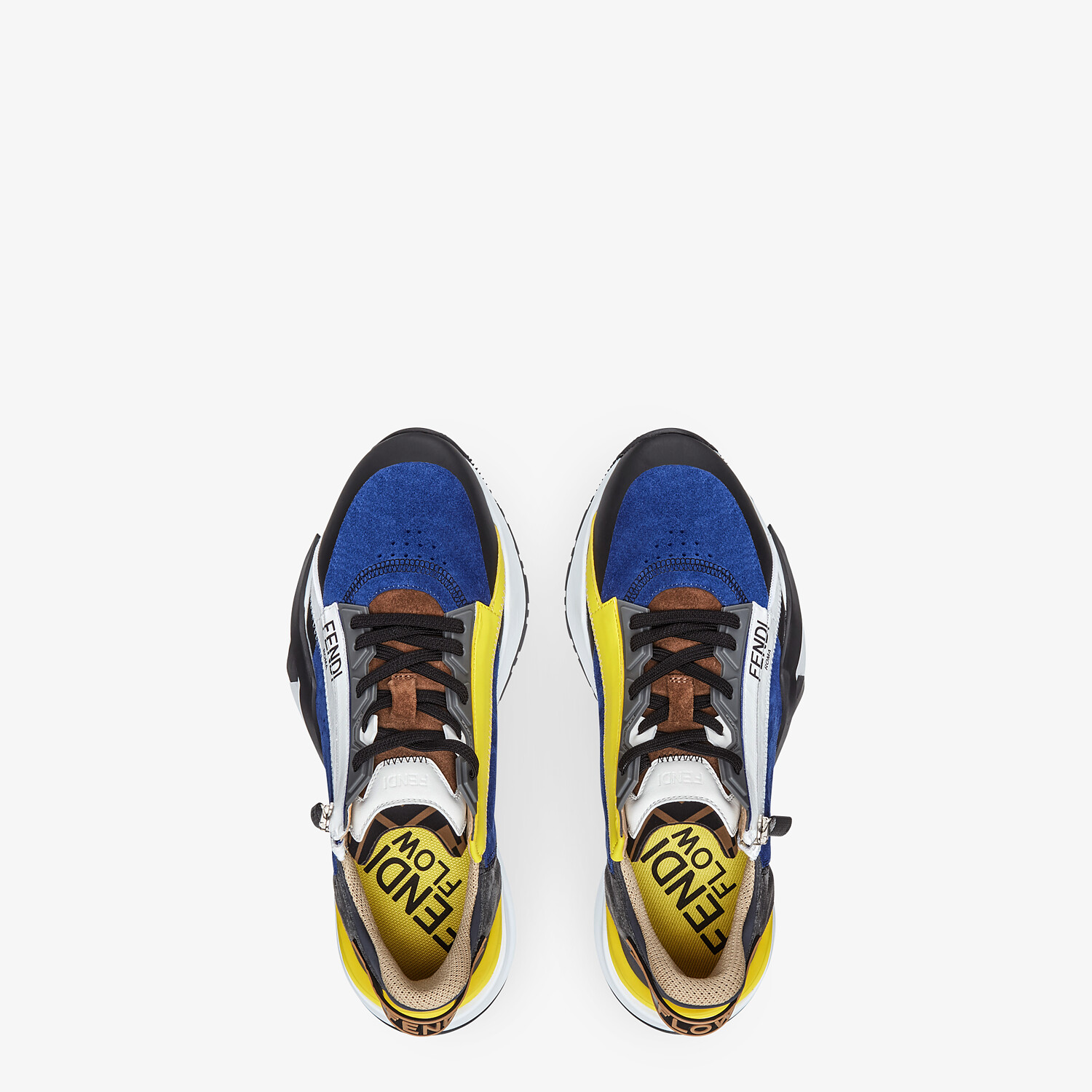 FENDI SNEAKERS - Multicolor suede low-tops - view 4 detail