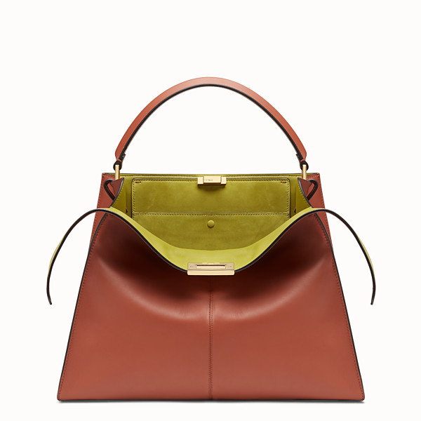 FENDI PEEKABOO X-LITE LARGE - Sac en cuir rouge - view 1 small thumbnail
