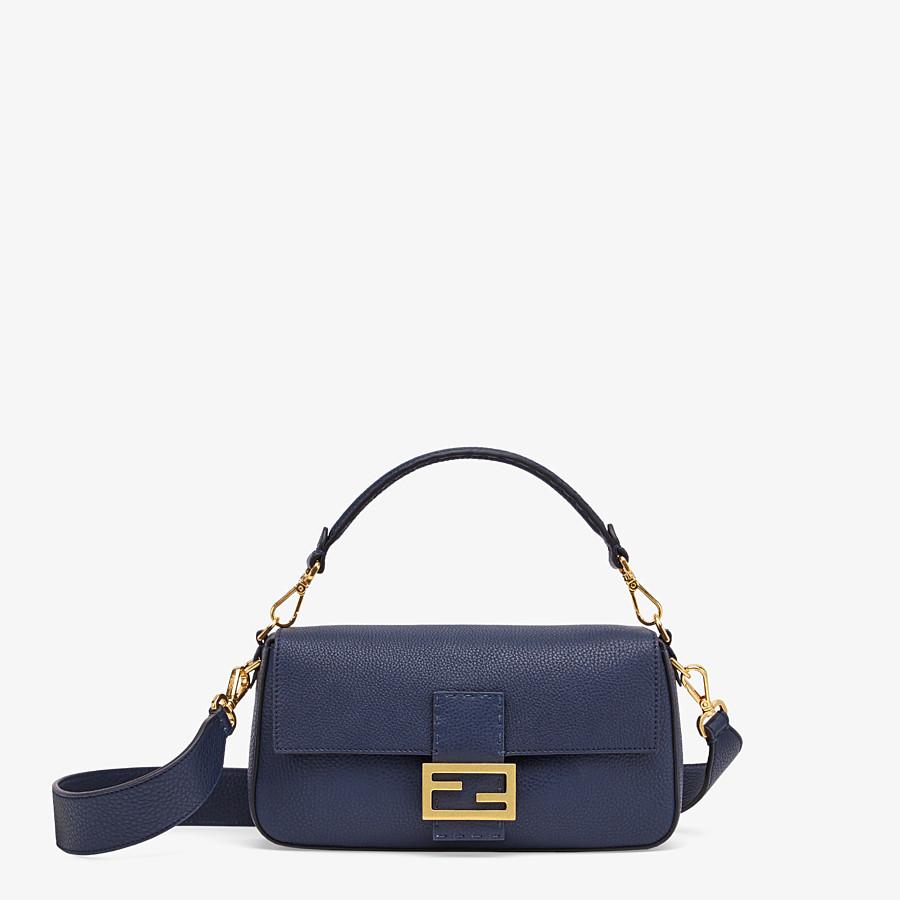 FENDI BAGUETTE - Blue leather bag - view 1 detail