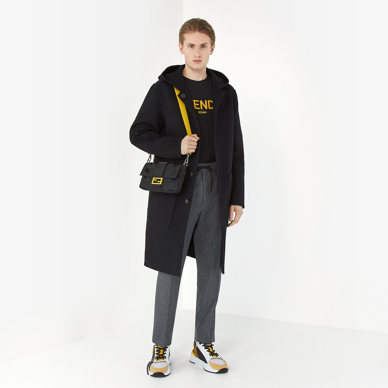 FENDI DUFFEL COAT - Black wool coat - view 4 detail