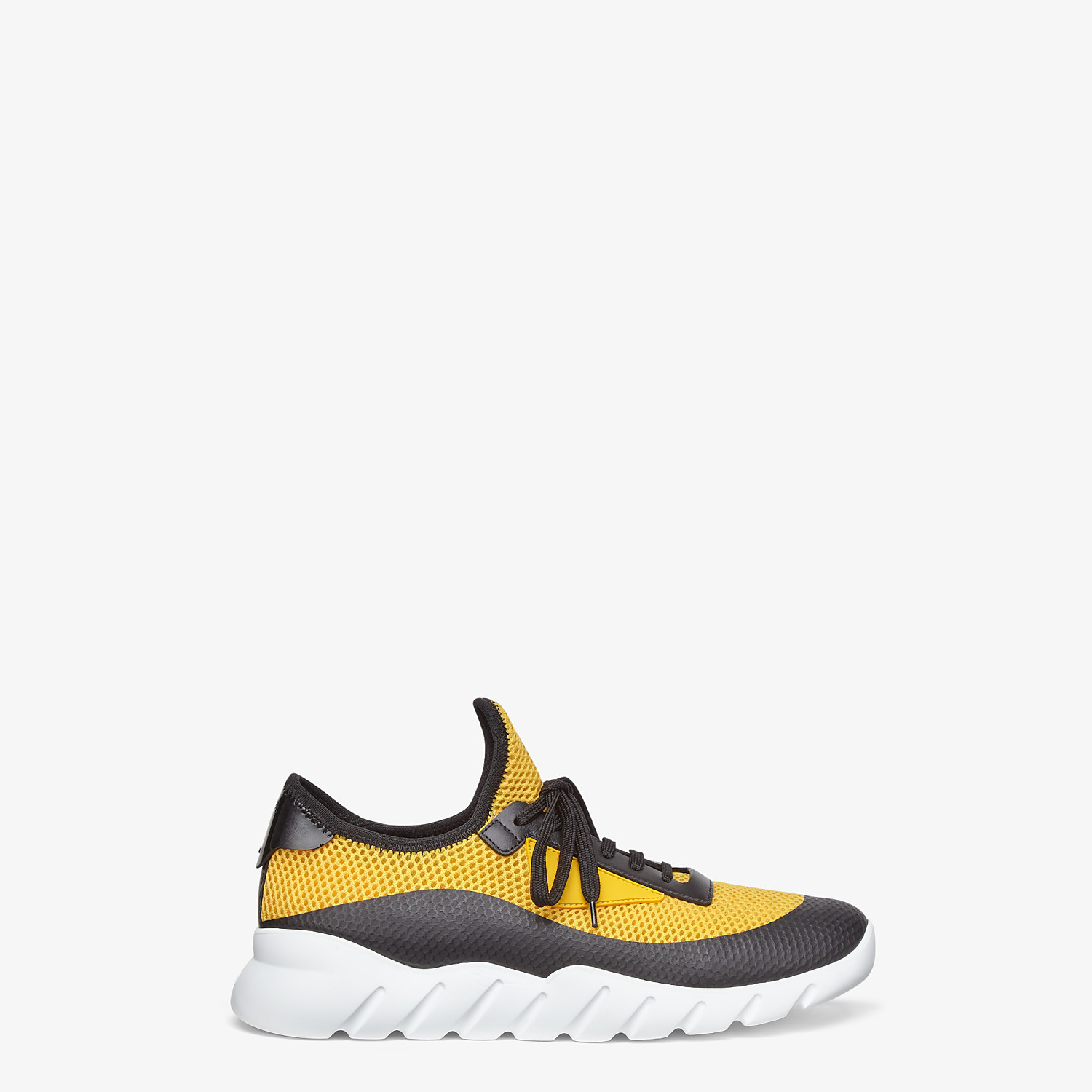 FENDI SNEAKERS - Yellow tech mesh running shoes - view 1 detail