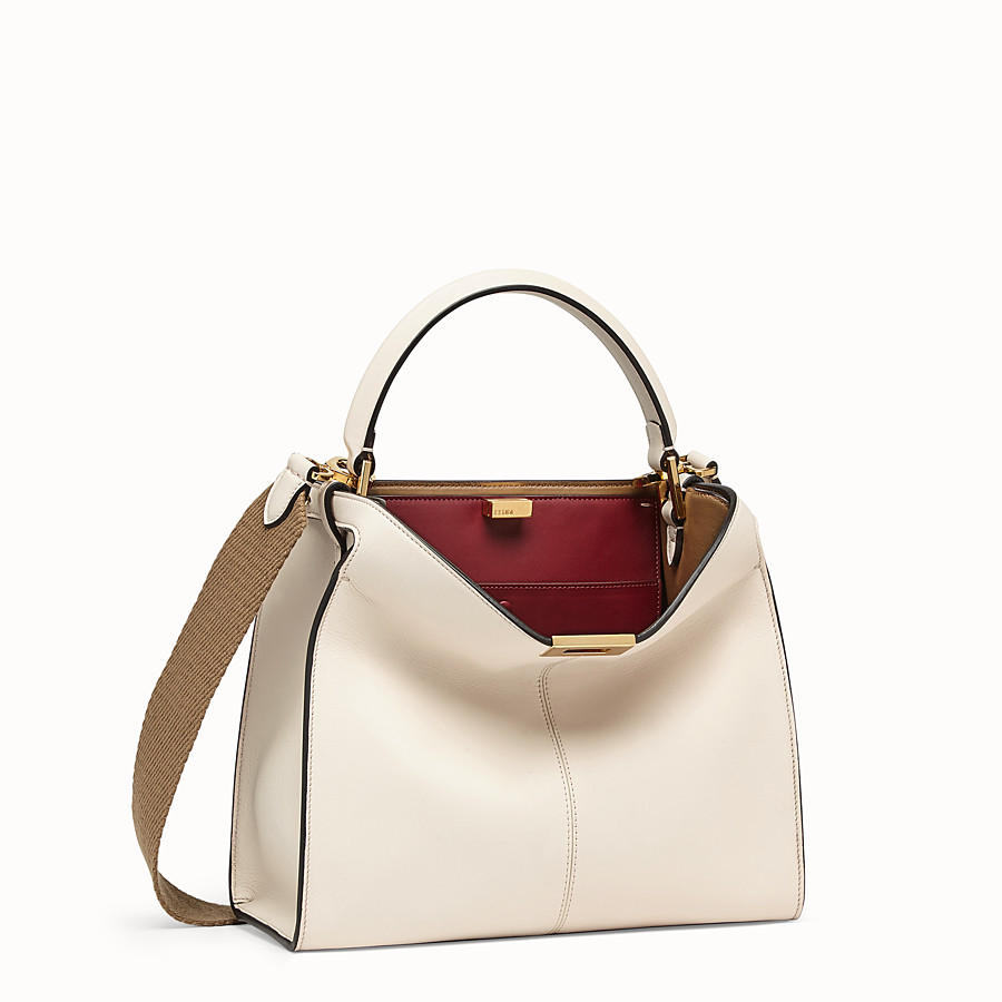 FENDI PEEKABOO X-LITE REGULAR - White leather bag - view 3 detail