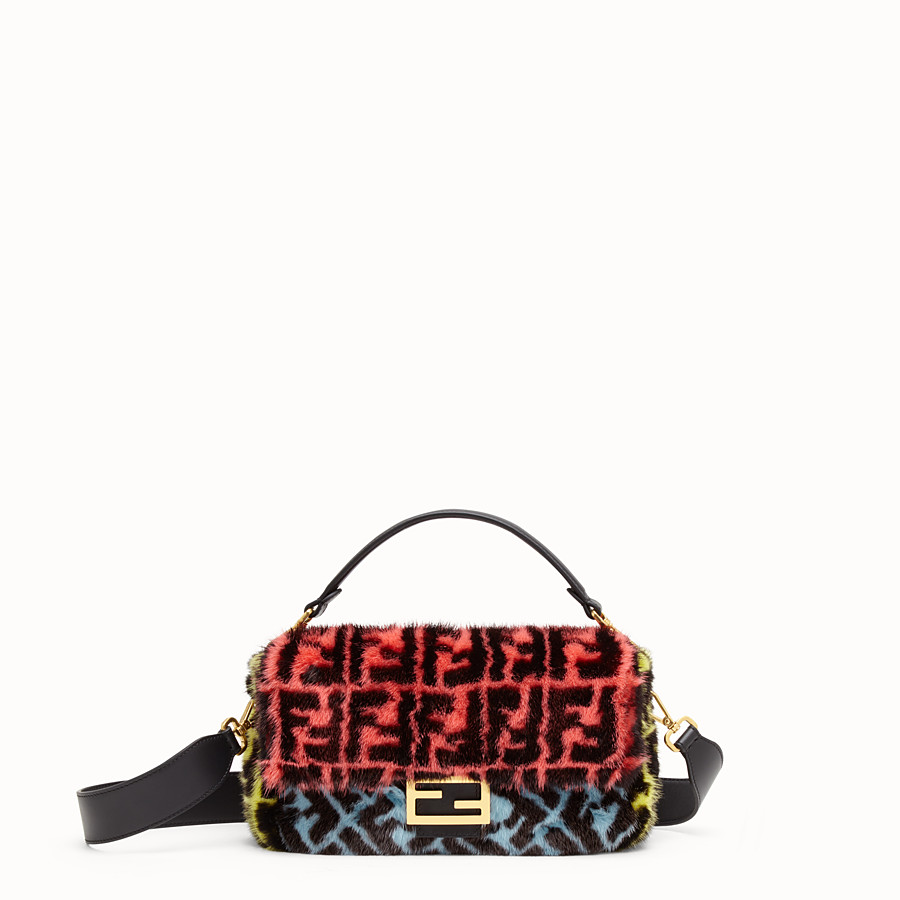 FENDI BAGUETTE - Multicolour mink bag - view 1 detail