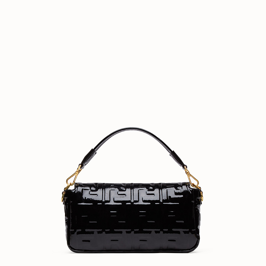 FENDI BAGUETTE - Black vinyl bag - view 4 detail