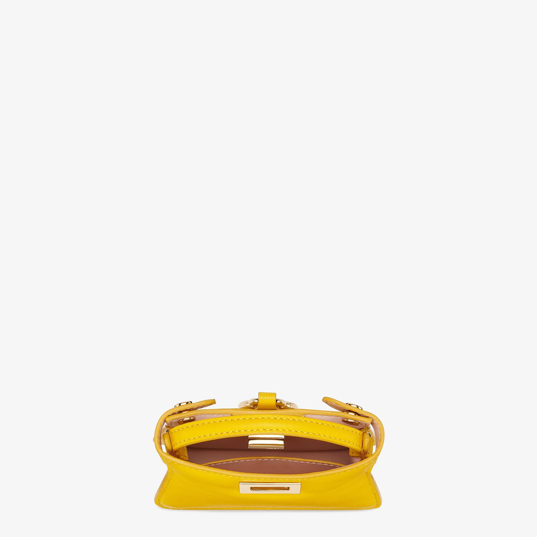 FENDI NANO PEEKABOO CHARM - Yellow nappa leather charm - view 3 detail