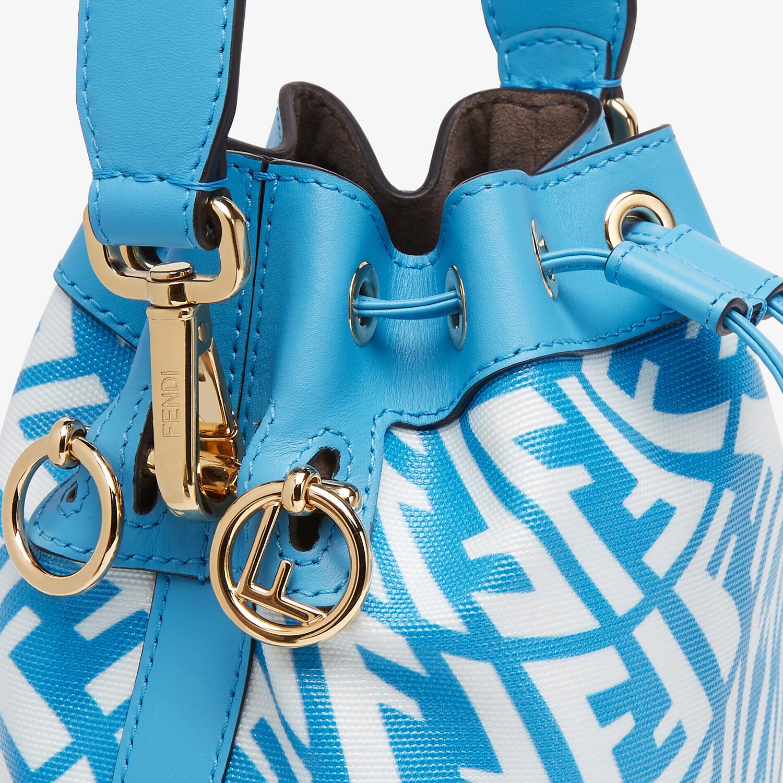 FENDI MON TRESOR - Blue glazed canvas mini-bag - view 6 detail
