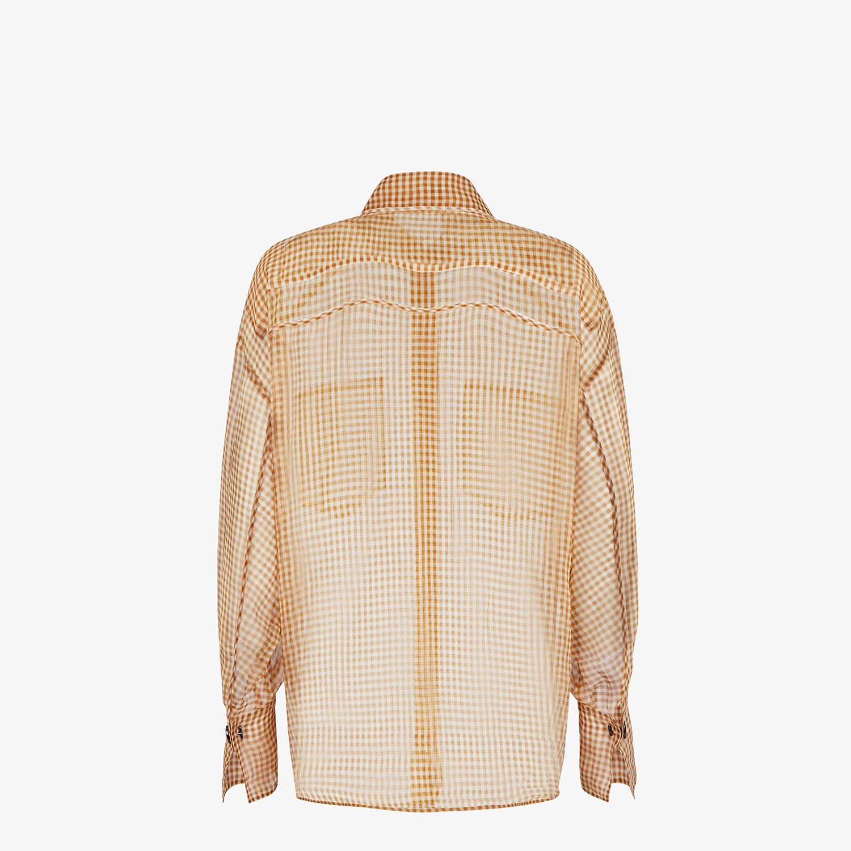 FENDI SHIRT - Check organza blouse - view 2 detail
