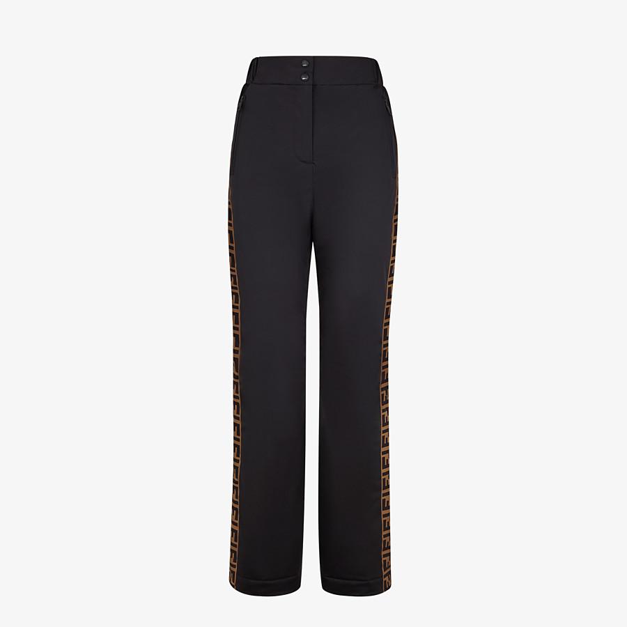 FENDI SKI PANTS - Black tech fabric pants - view 1 detail