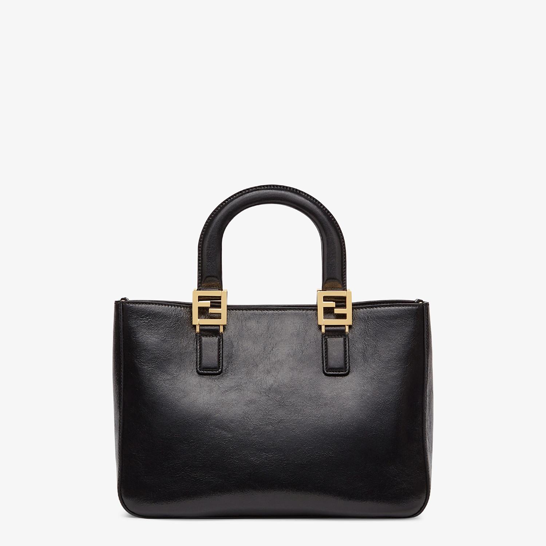 FENDI FF TOTE SMALL - Black leather bag - view 4 detail
