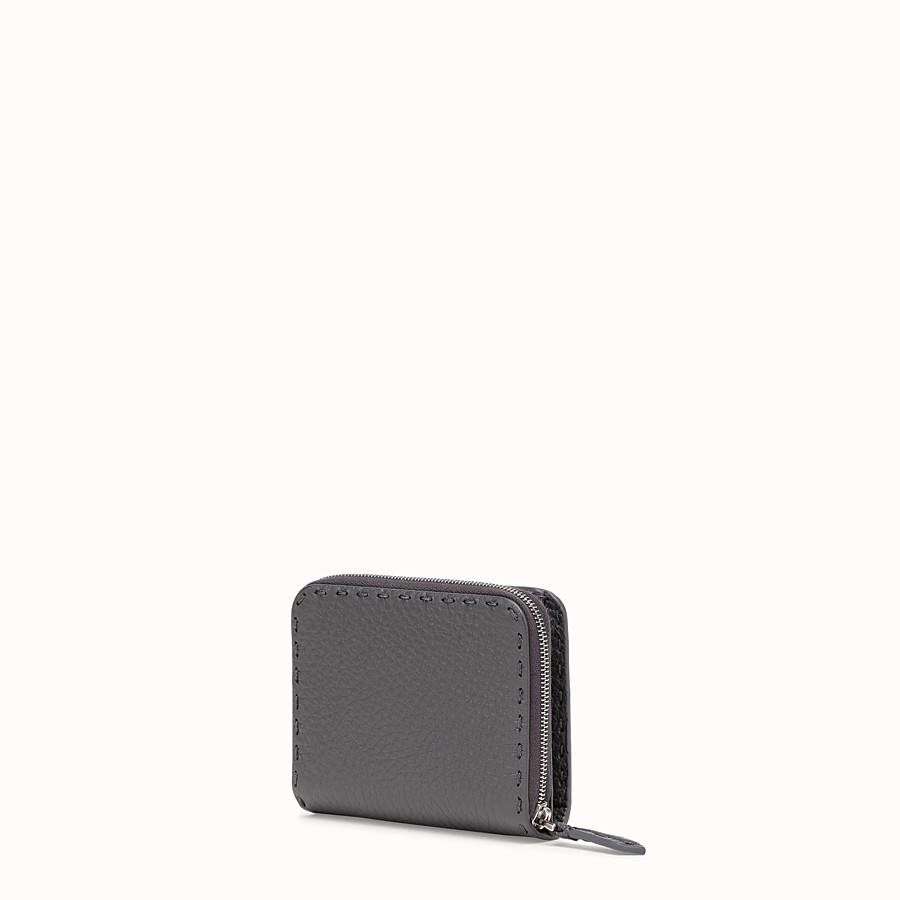 FENDI MEDIUM ZIP-AROUND - Grey leather wallet - view 2 detail